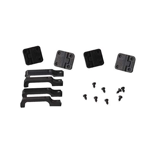 Floridivy 1Set Black plastic auto deur scharnieren Door Handles Vervanging voor 01:10 RC Crawler Traxxas TRX4 TRX4
