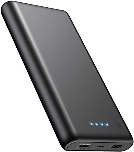 モバイルバッテリー 大容量 24800mah 【薄型 新設計】 残量表示 急速充電 2USB出力ポート 小型 バッテリー ...