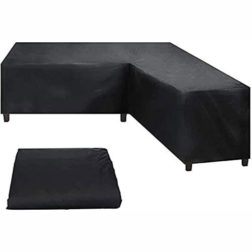 LVLUOKJ Gartenmöbel Abdeckung L-Form,Ecksofa Abdeckung Wasserdicht Schutz vor Wind UV schützende Schutz für Loungemöbel (Size : 210 * 270 * 85cm)