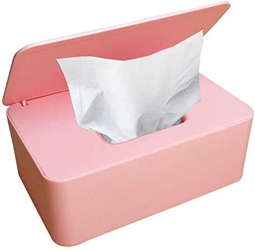 SunAurora Caja para Toallitas Húmedas,Dispensador de Toallitas Húmedas Bebe con Tapa para Oficina en Casa (Rosa)