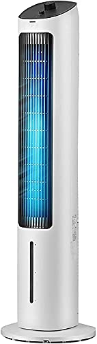 wangYUEQ Ventilador de torre de enfriamiento,Ventilador portátil sacudió su cabeza alrededor de 80 grados,3 velocidades de ventilador de enfriamiento enfriador de aire,50W