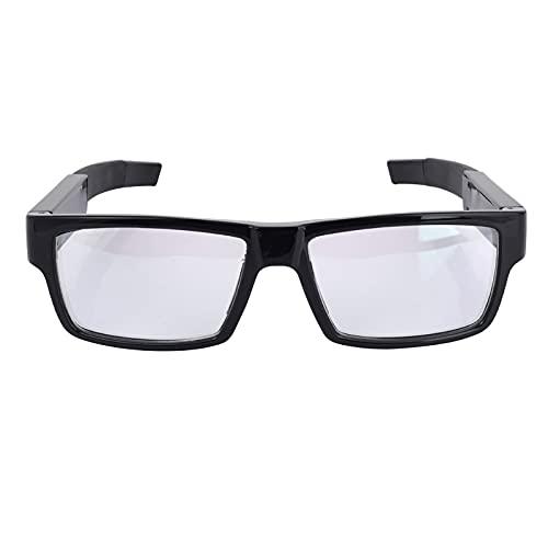 1080P HD WiFi Inteligentes Gafas Camara Espia,Pequeña Cámara Camuflada Portátil Oculta,Sin Botones Expuestos Grabación en Bucle Soporte Teaching Knitting Reuniones Negocios (16G)