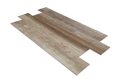 2,82 qm SPC Klick Vinylboden mit Trittschalldämmung Langdielen 23x155cm | PS28