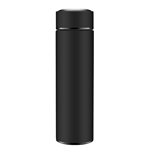 MEILEQI Edelstahl-Thermobecher Isolierflasche Frosted Geschenk Cup Herren und Damen High-End-Business-Gerade Cup for Personal Customization Werbegeschenke (Color : Black)