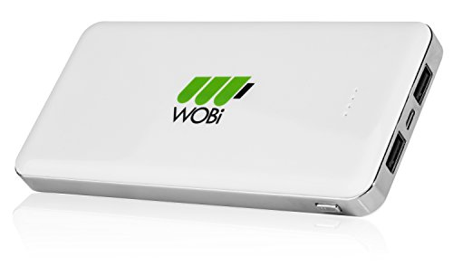 WOBi E13000 High Capacity 13000mAh Mobile Battery Charger for Cell Phones, Tablets, Digital Cameras, Camcorders