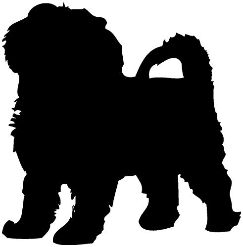 Samunshi® Bolonka Zwetna Hunde Aufkleber Autoaufkleber Sticker in 6 Größen und 25 Farben (9,8x10cm schwarz)