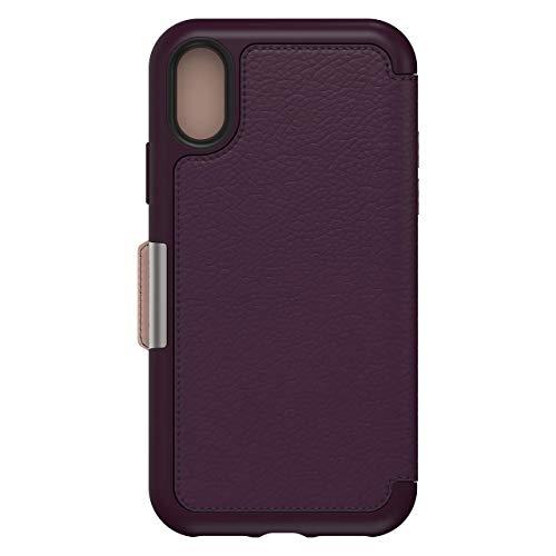 OtterBox Strada Etui - Elegante, sturzsichere Folio Schutzhülle aus echtem Leder für iPhone X/Xs, violett