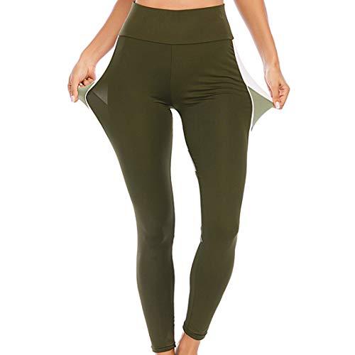 Pantaloni yoga a vita alta donna a vita alta Pantaloni yoga a blocchi di colore Pantaloni sportivi slim fit Elasticità pantaloni fitness traspiranti Allenamento sportivo jogging Leggins sportivi L