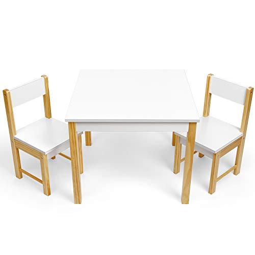 Table pour Enfants, Table de Jeux pour Enfants avec 2 Chaises, Ensemble Table et Chaises pour Enfants pour Apprentissage, Dessin, Jeux, Convient aux Enfants de 3 à 10 Ans