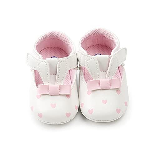 Zapatillas Bebe Suave Aacogedor Zapatos Bebe Primeros Pasos Suela de Goma Antideslizante Zapatos Bebe Niña Niño 0-18 Meses