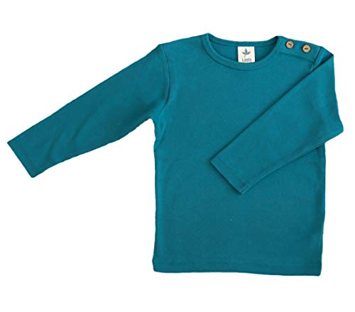 Leela Cotton Baby/Kinder Langarm-Shirt Bio-Baumwolle, Ozeanblau, Gr. 86/92