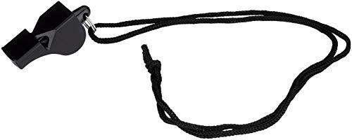 Schreuders Sr Deq Silbato Arbitro Plástico Lluvia Fútbol, Adultos Unisex, Negro (Negro), Talla Única