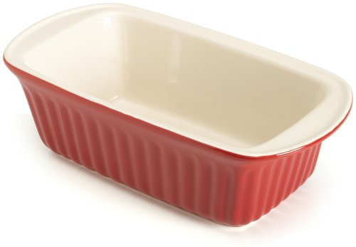 Good Cook 9 Inch Ceramic Loaf Dish, Red
