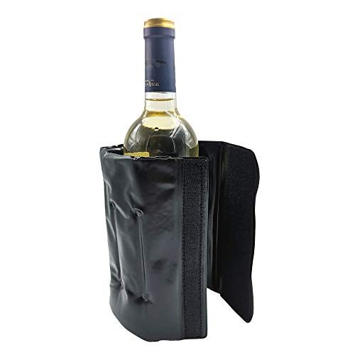 Enfriador De Botellas De Vino Con Líquido Refrigerante, Acabado Termo Sellado y Cierre Ajustable de Velcro