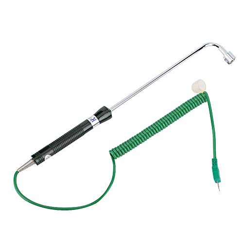 Thermoelement, Typ K Thermoelement, Temperatursensorsteuerung, -50 ° C ~ 500 ° C, 20 cm Sonde, 1 m Kabel, zur Messung der Oberflächentemperatur fester/metallischer Dosen geeignet