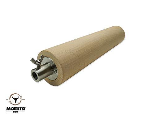 Moesta-BBQ 10340 FeuerWalze - Buchenholzrolle für Rotisserie (MOESTA PizzaRing Rotisserie) – Baumstriezel, Baumkuche, Kaminbrot oder Cannoli selber Machen