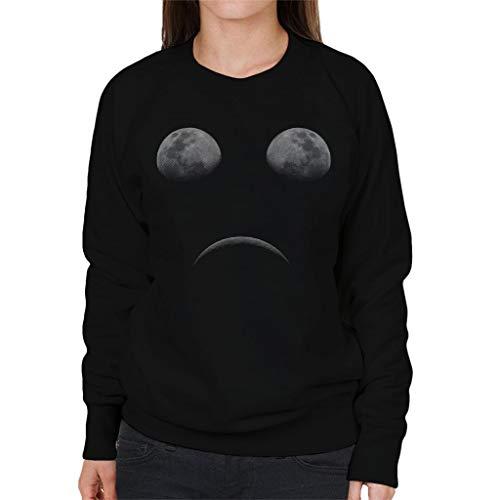 Cloud City 7 Moon Eclipse Sad Face Women's Sweatshirt