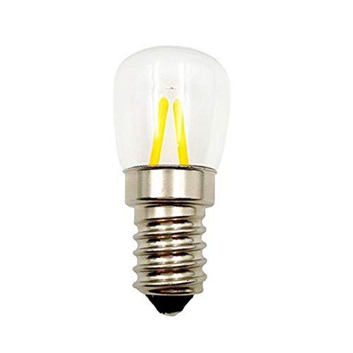 Auto-Signal-Glühlampe, 2W E14 Schraube führte Birnen-Kühlraum-Birne 12V transparente kleine Birne 2Pcs @ White