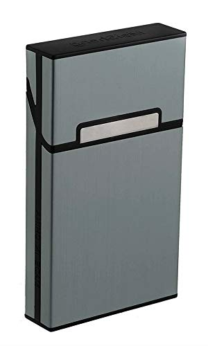Tenfel シガレットケース 100mm スリム タバコ 20本収納 アルミ タバコケース 軽量 葉巻保護カバー 夏場 汗 対策 [並行輸入品]