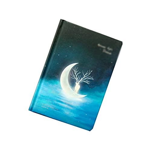 Cuaderno Diario Fawn Notebook A5 Bloc De Notas Simple Diario De Viaje Creativo Estudio Oficina Papelería Regalos (128 Hojas/256 Páginas) Cuadernos para Mujeres (Color : C)
