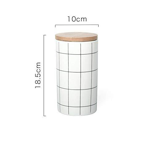 Buy Bargain Food Storage Tank, Round Lattice Sealed Seasoning Tea Coffee Ceramic Storage Tank 3 Spec...