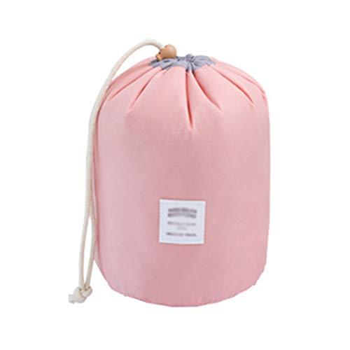 Ysy Lazy Cilinder Cosmetische Tas Grote Capaciteit Waterdicht Nylon Trekkoord Opslag Wasactiviteit Locking Bundel Draagbare Reizen Slaapkamer Badkamer