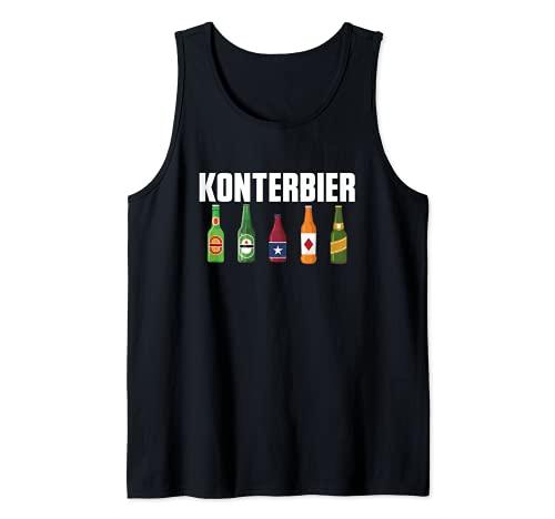 Konterbier Konter & Bier Kontern Bierliebhaber Biertrinker Tank Top