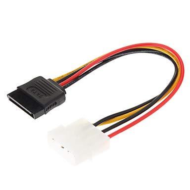 QAZSE 4-pins IDE naar 15-pins SATA-HDD-voedingskabel (0,15 M)