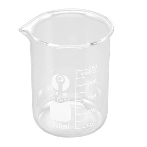 ULTECHNOVO Vaso de Precipitados de Vidrio de Borosilicato Graduado de Alta Resistencia - Vasos de Precipitados Graduados de Vidrio