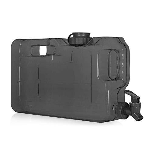 Slimline Getränkespender mit Spigot in schlankem Transparent für Kühlschrank / tragbar / kompakt BPA-frei 1.1 gallon schwarz