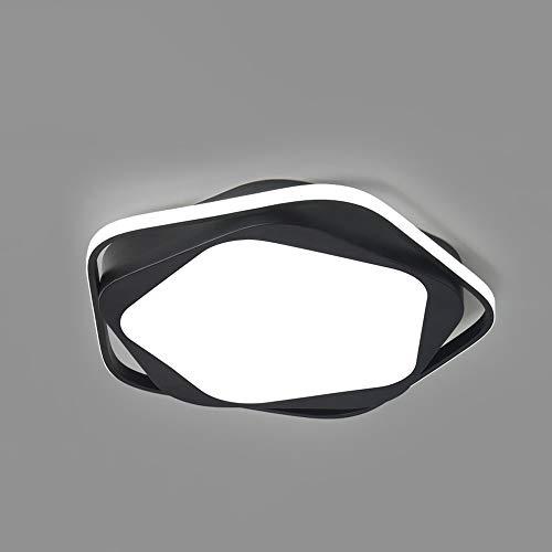 Xungzl Luz de techo de montaje en forma de ala de forma pentagonal LED, estilo nórdico creativo, simple, Lámparas de techo de ahorro de energía para el hogar de tres colores, adecuado para dormitorio,