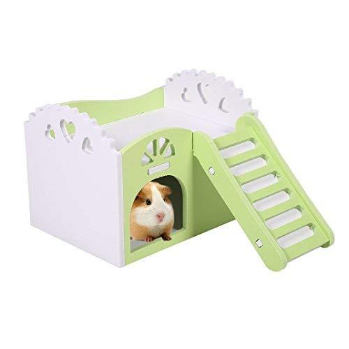 OFKPO Casita para Animal Doméstico, Hamster de Madera Casa de Dormir Juguetes Ratón de Rata de Animales