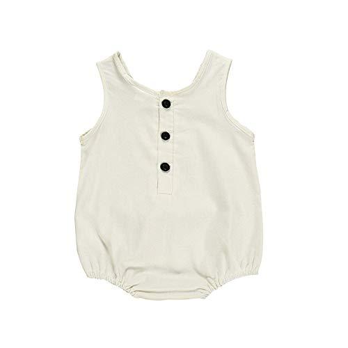 mädchenkleider,Neugeborene Baby Baby Boy Kid Solid Strampler Streifen Bodysuit OutfitsWeiß90