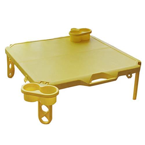 LFONCE Mesa plegable de plástico para niños, mesa de camping, mesa plegable...