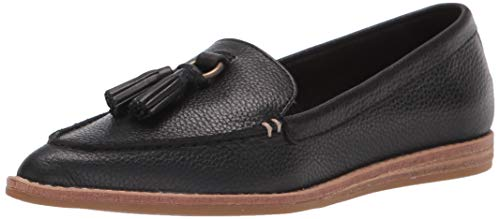 Sperry womens Saybrook Slip on Tumbled Leather Sneaker, Black, 9 US