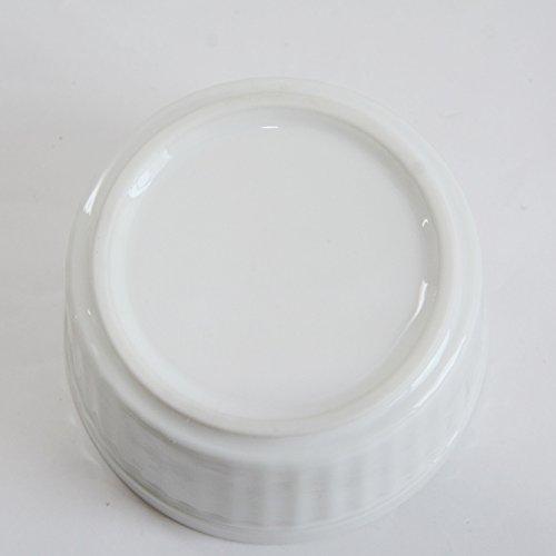 5個セット 【白い食器】耐熱 縦筋レリーフ  スタック仕様 ココット ラメキン スープボウル10cm