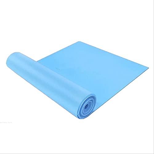 HHBB Tpe Material Elástico Yoga Cinturón Estiramiento Resistencia Yoga Cinturón 1.5 m Largo Deportes Fitness Shaping Belt 150 cm × 15 cm × 0.35 cm Azul