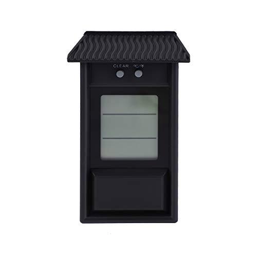WOVELOT Garden Thermomètre étanche Thermomètre à Mémoire Thermomètre pour Fenêtre Extérieure Thermomètre pour Réfrigérateur Thermomètre Noir