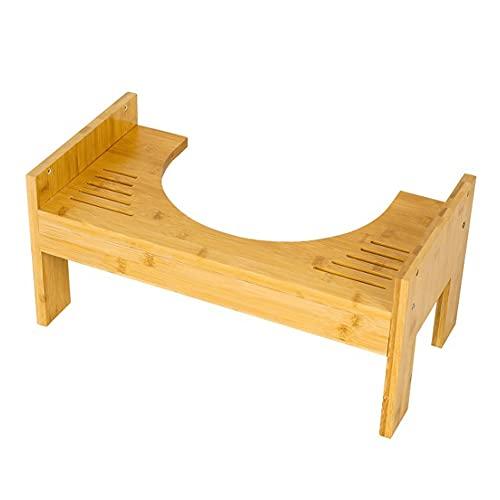 Ysislybin Sgabello per WC in legno di bambù, altezza regolabile, per adulti e bambini, per donne incinte, con prova di muffa