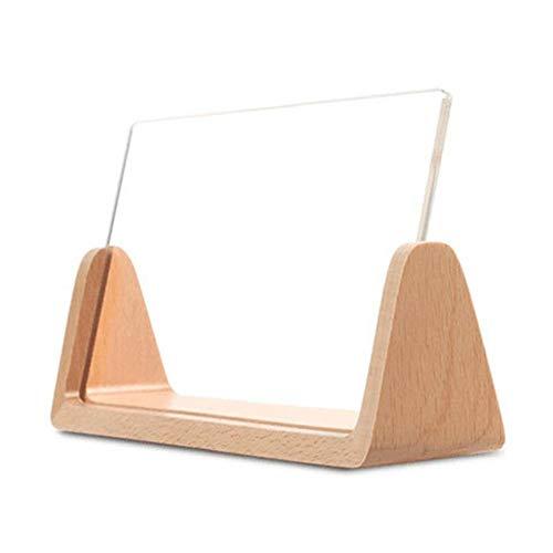 Ecisi 6-Zoll-Bilderrahmen aus massivem Holz High-Definition-Acryl-Panel, U-förmigen Bilderrahmen für Tischdisplay Fotorahmen