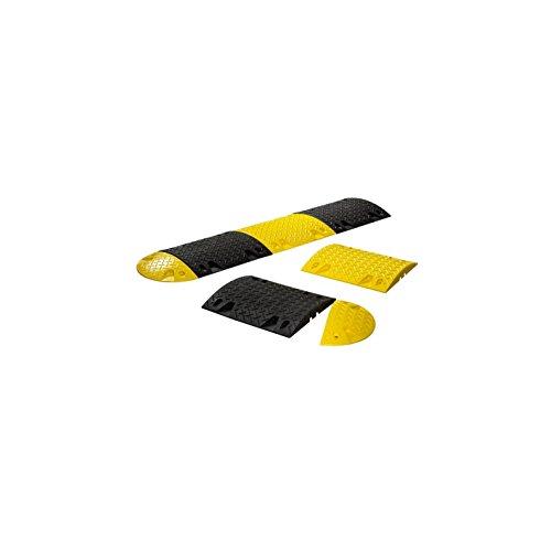 Bodenschwelle aus Recyclinggummi zum Aufdübeln oder Ankleben - Mittelstück schwarz, Höhe 60 mm - Breite 500 mm