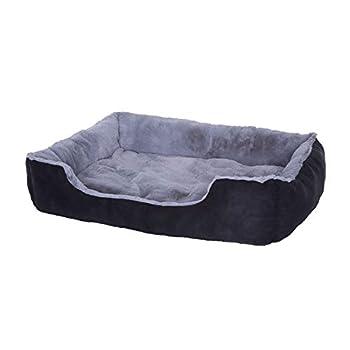 Lit chien coussin chien panier chien avec coussin taille XL gris/noir
