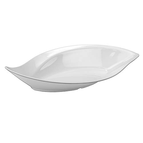 Travessa Folha Gourmet Mix Branco 41.2x19Cm