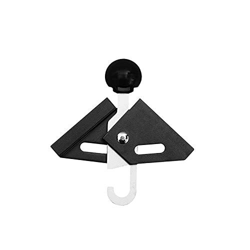 SJHFG Aleación de aluminio superior puntal toldos poste playa tienda soporte marco superior bola telescópica para accesorios de camping, negro 1