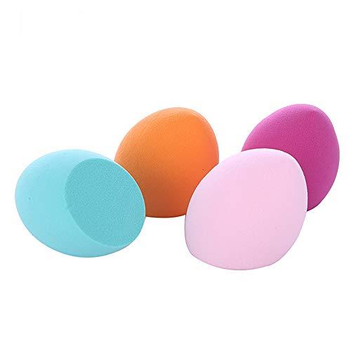 Éponge de maquillage Éponges Maquilleur pour Fond de Teint Poudre Poudre Liquide etc. 4 Pièces, Double Couche, Velours