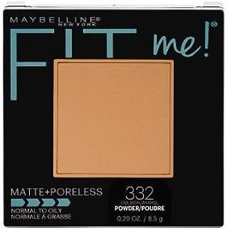 Maybelline Fit Me! Matte + Poreless Foundation Powder #332 Golden Caramel (Pack of 2)