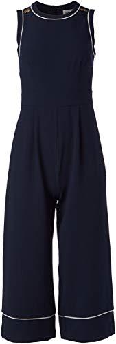 Eliza J Women's Sleeveless Cropped Jumpsuit Dress, Navy, 10