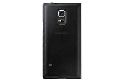 Samsung Flip Wallet Hülle Case Cover für Samsung Galaxy S5 Mini - Metallic Schwarz