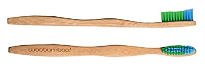 Bamboo Toothbrush - Adult - Soft Bristle - BPA Free Nylon Bristles - Eco-Friendly, Biodegradable, Compostable, Vegan by WooBamboo!