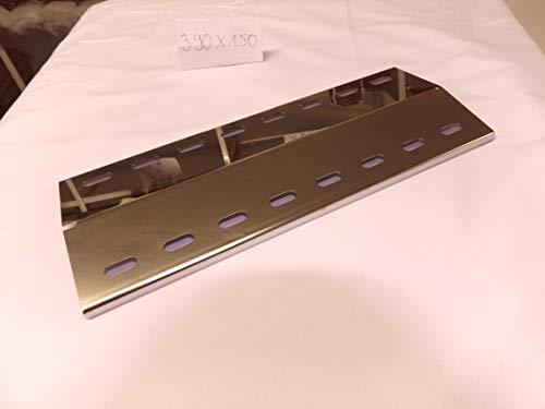 Hz1BBQde Edelstahl Manufaktur Stollenwerk Ersatzteile aus V2A und V4A Edelstahl u.a Grillrost Für Landmann 12739 Design (390x140x1mm V4A Flammenverteiler)